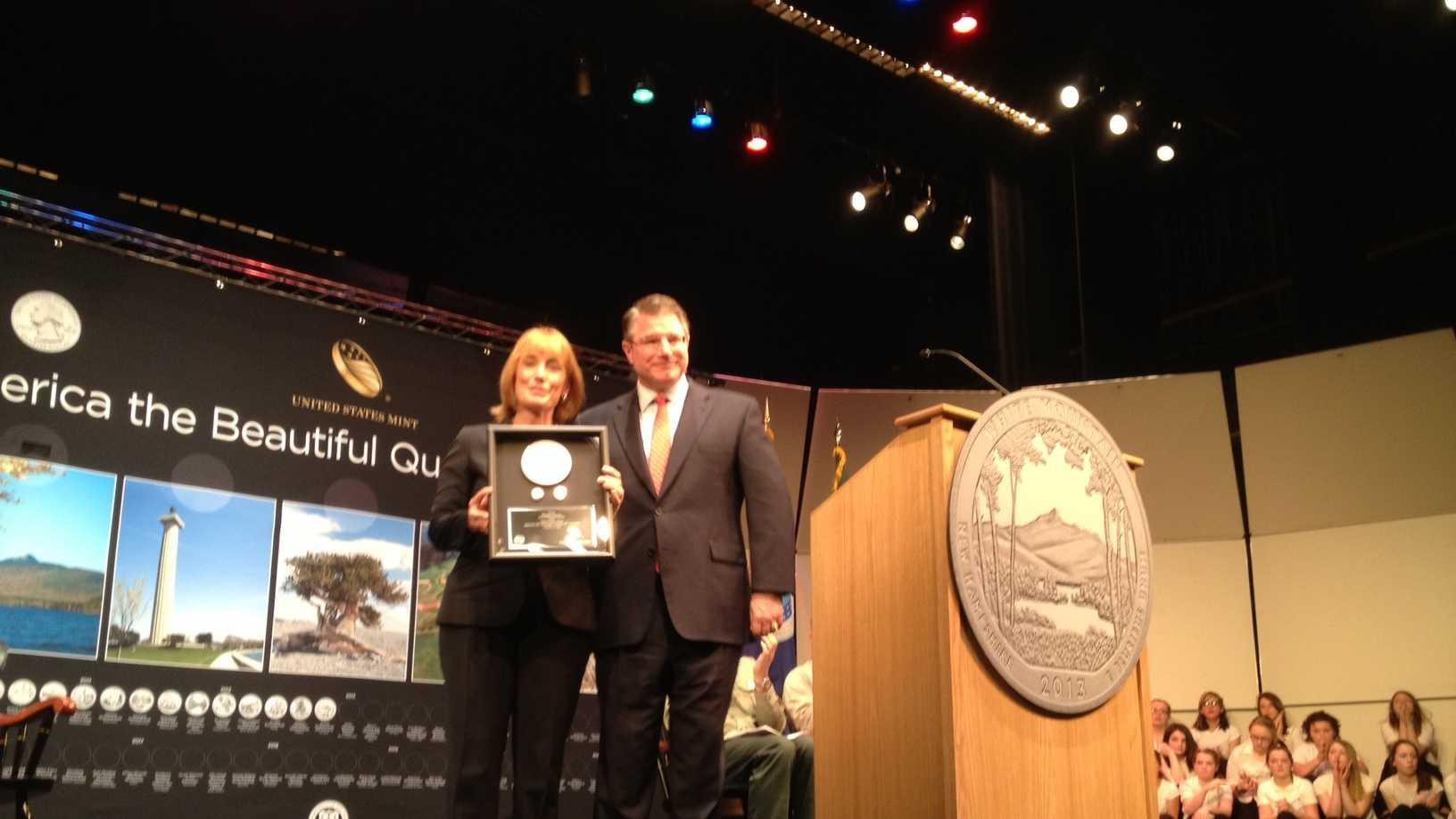 New quarter presented to governor
