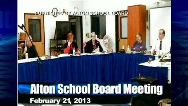 Parents in Alton are not happy about the actions of a school board member at a meeting.