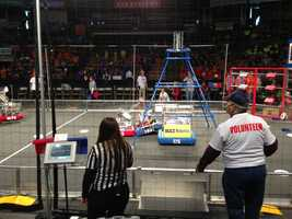 Robots and their high school student designers from throughout the Northeast will vie for first place as the 11th annual Granite State Regional FIRST Robotics Competition gets under way in Manchester.