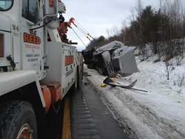 The crash happened just after 3:30 a.m. on the southbound side of I-89 in Sutton, between exits 11 and 10
