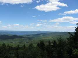 """Josh's favorite New Hampshire landmark is at Gunstock Mountain. """"My favorite view is looking back over the lake while going up a chairlift at Gunstock. Unbelievable beauty,"""" Josh said."""