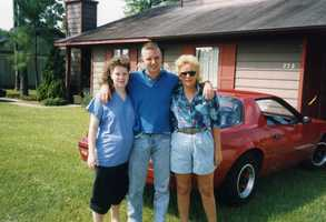 """Josh's first car? """"My first real car wasmy shiny redCamaro. It looked good sitting in thedriveway, but soundedbad on the road,"""" Josh said."""