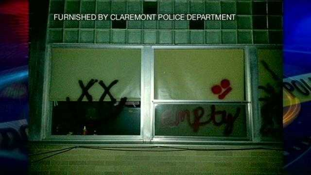 Police investigating graffiti in Claremont.