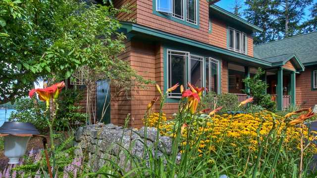 128 Veasey Shore Road in Meredith features seven bedrooms, seven bathrooms and a boathouse.