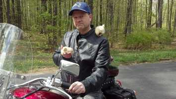 """What is one funny thing that has happened in Josh's life recently? """"Well I've wanted to buy a motorcycle for years and my wife has wanted to raise chickens. Last year we struck a deal… I could get my bike and she could get chickens. We called it, 'The biker chick deal,'"""" said Josh."""