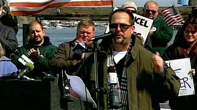 Shipyard workers rally against sequestration