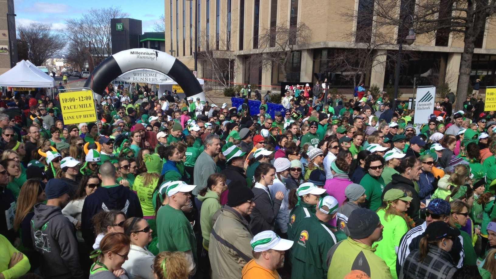 Manchester hosts St. Patrick's parade and Shamrock Shuffle