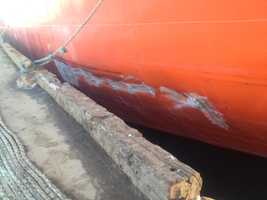 Damage to the ship.