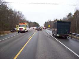 A multi-car crash in Lee sent one person to the hospital Thursday.