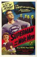 """George Reeves first took on the role of Superman in the 1951 movie """"Superman and the Mole Men."""" The 58-minute movie served as a trial run for the TV version Reeves would become best known for."""