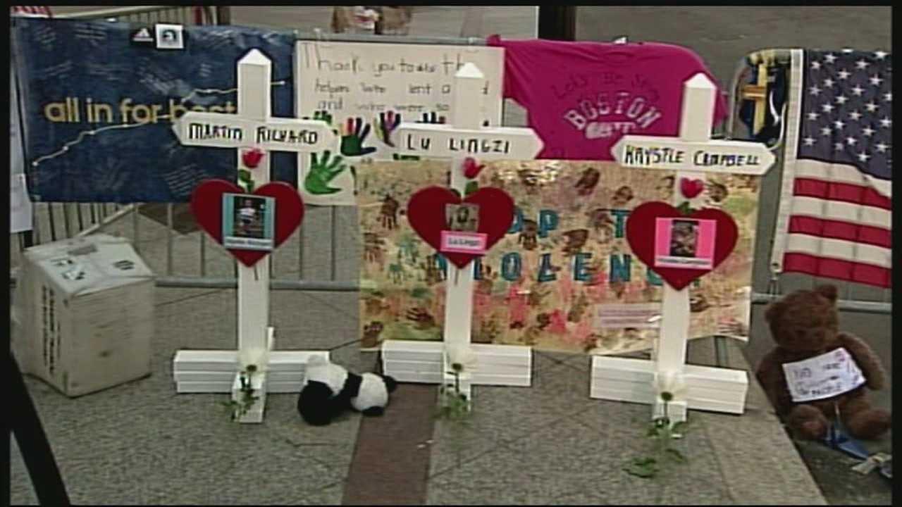 Boston Marathon memorials continue to grow