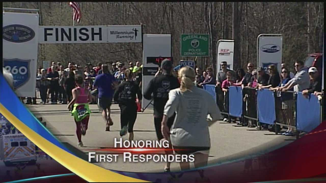 Hundreds gather for Chief Maloney Unity Walk and Run in honor of fallen Chief Michael Maloney.