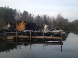Ashland firefighters arrived on the scene to find the boat slip and boat storage areas in flames.