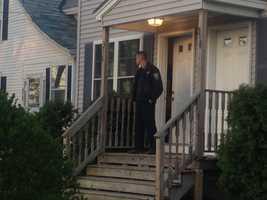 Officers have also been seen going door to door, questioning neighbors.