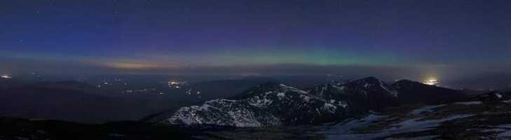 Aurora borealis was captured over Mt. Washington on May 1.