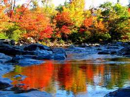 "The first words that come to mind when Nick hears ""New Hampshire"" is fall foliage."