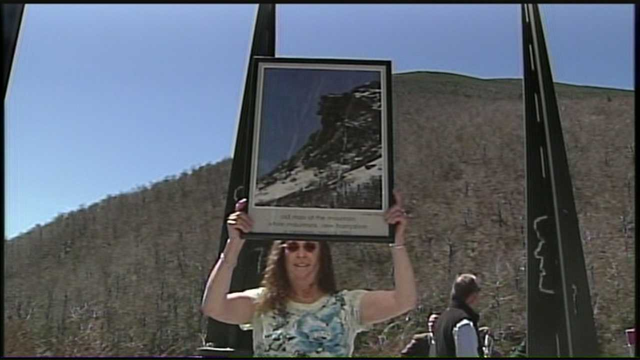 Ceremony held to remember Old Man of the Mountain