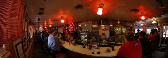 "Adam's favorite New Hampshire restaurant is The Red Arrow Diner. ""I like to sit at the 'Ray Brewer' seat,"" said Adam."
