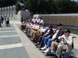 "Adam's most memorable story assignment happened while in New Hampshire. ""It was the chance to ride along on an honor flight with two dozen WW2 vets traveling to DC to see the WW2 Memorial for the first time.  'Honor Flight New England' gives our aging servicemen and women an amazing display of gratitude and an unforgettable day,"" Adam said."