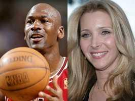 1) Michael and Lisa(Pictured: Basketball legend Michael Jordon, and actress Lisa Kudrow)