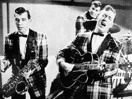 """Andy's most memorable assignment was when he got to interview the bassist for Bill Haley and His Comets. """"The first thing he said to me was, 'Well, when we invented rock and roll…' It really blew my mind. I couldn't remember a thing after that,"""" Andy said."""