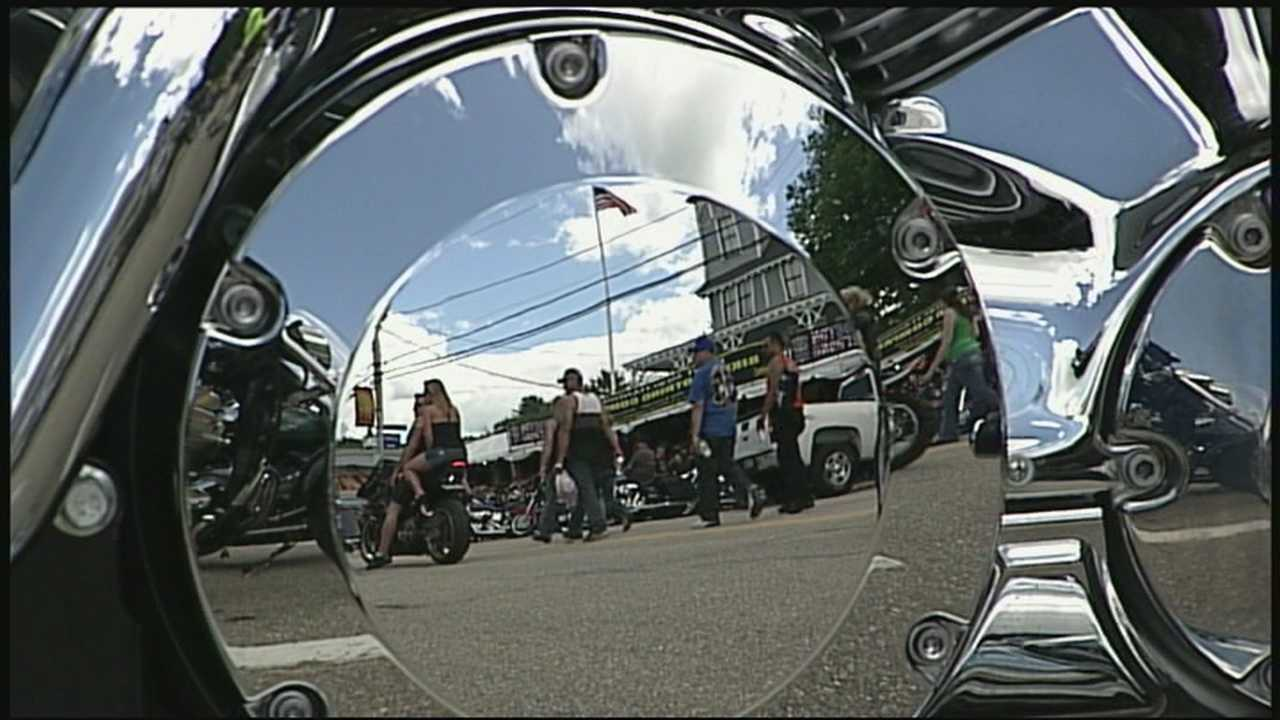 Thousands of people enjoyed the sunshine Sunday with Motorcycle Week in Laconia underway.
