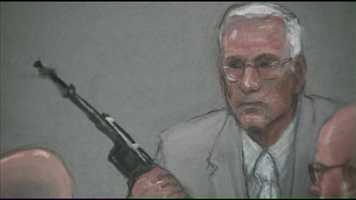 During cross-examination, Foley acknowledged that none of the weapons were found in Bulger's house and neither his fingerprints nor DNA were found on any of them.