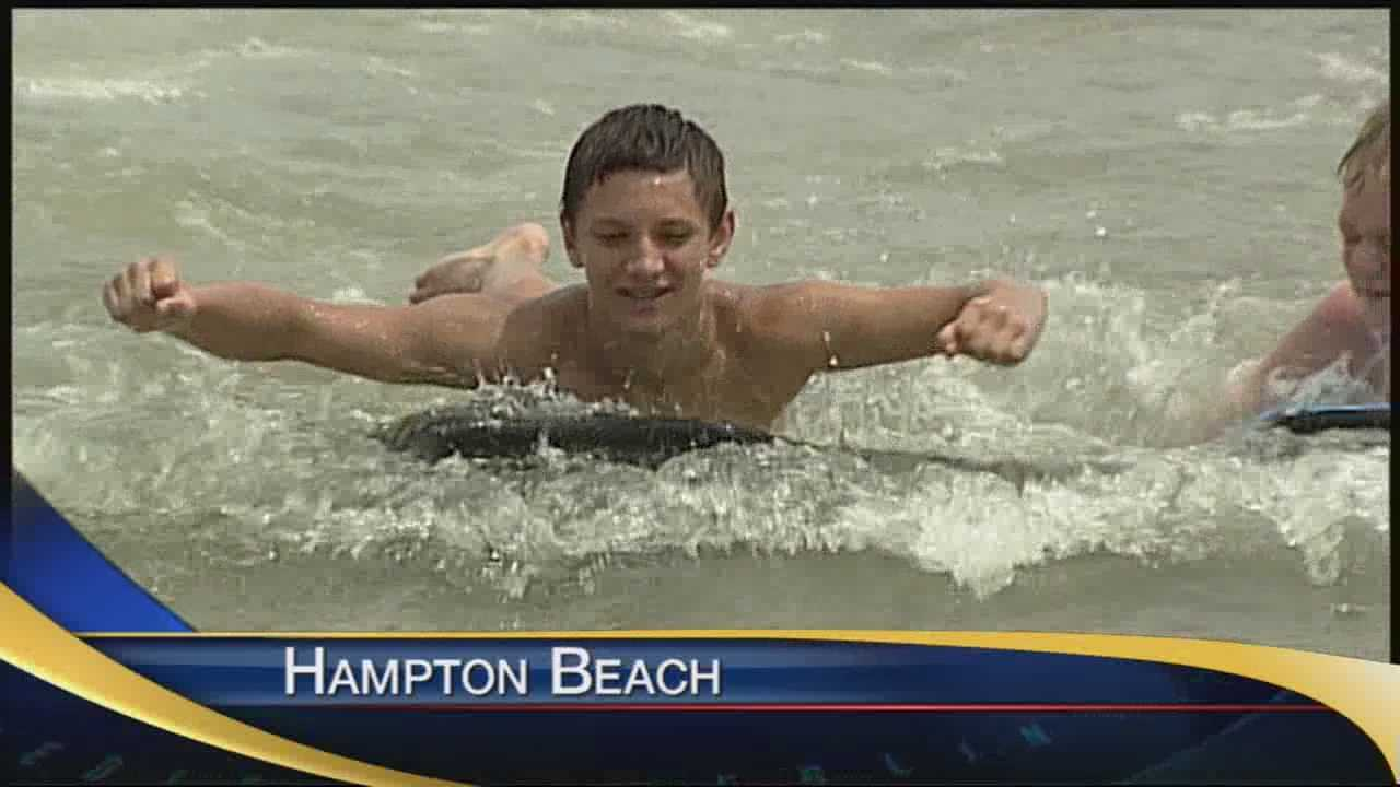 Hot weather brought out many beach goers Saturday.
