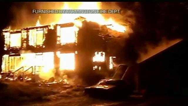 Flames destroy home in Farmington