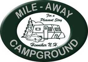 Tie-19) Mile-Away Campground in Henniker.