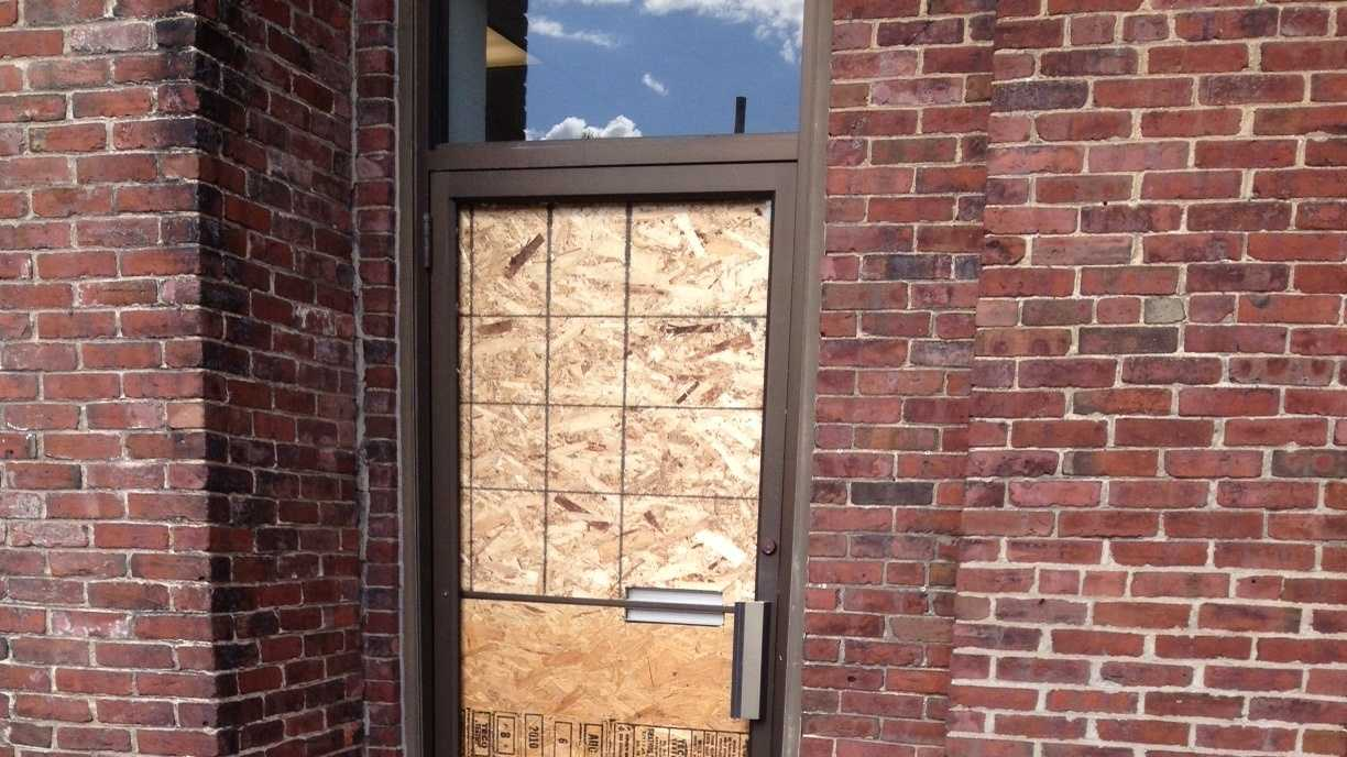 Employees at RTT Associates counseling center said they were trying to clean up from vandalism.