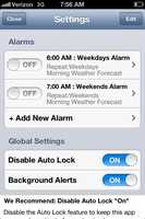 You can set the alarm to repeat every day or set custom alarms.