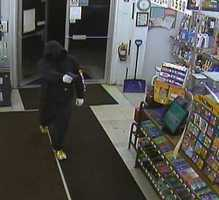 Police are looking for this man who robbed Sam's Food Store in Penacook on Thursday night.