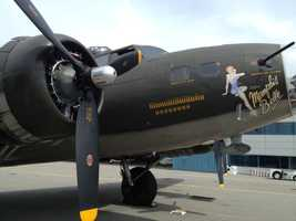 A B-17 flying fortress bomber from World War II has been restored, and will be open for public viewing in Manchester.