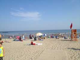 The water at Wallis Sands State Beach in Rye was evacuated Tuesday afternoon after a reported shark sighting.