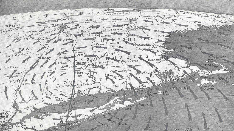 Hurricane of '38 map