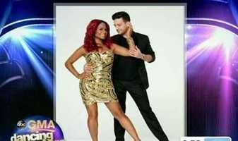 Christina Milian, singer, dancing with Mark Ballas