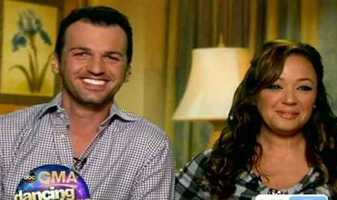 """Leah Remini of """"King of Queens"""" dancing with Tony Dovolani"""