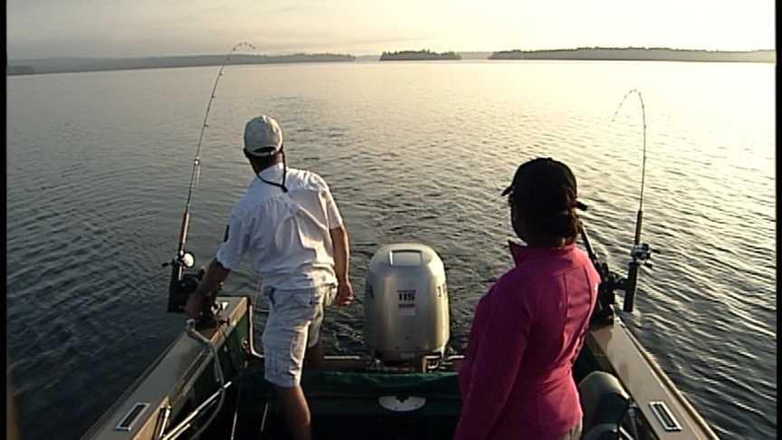 Fising on Lake Winn