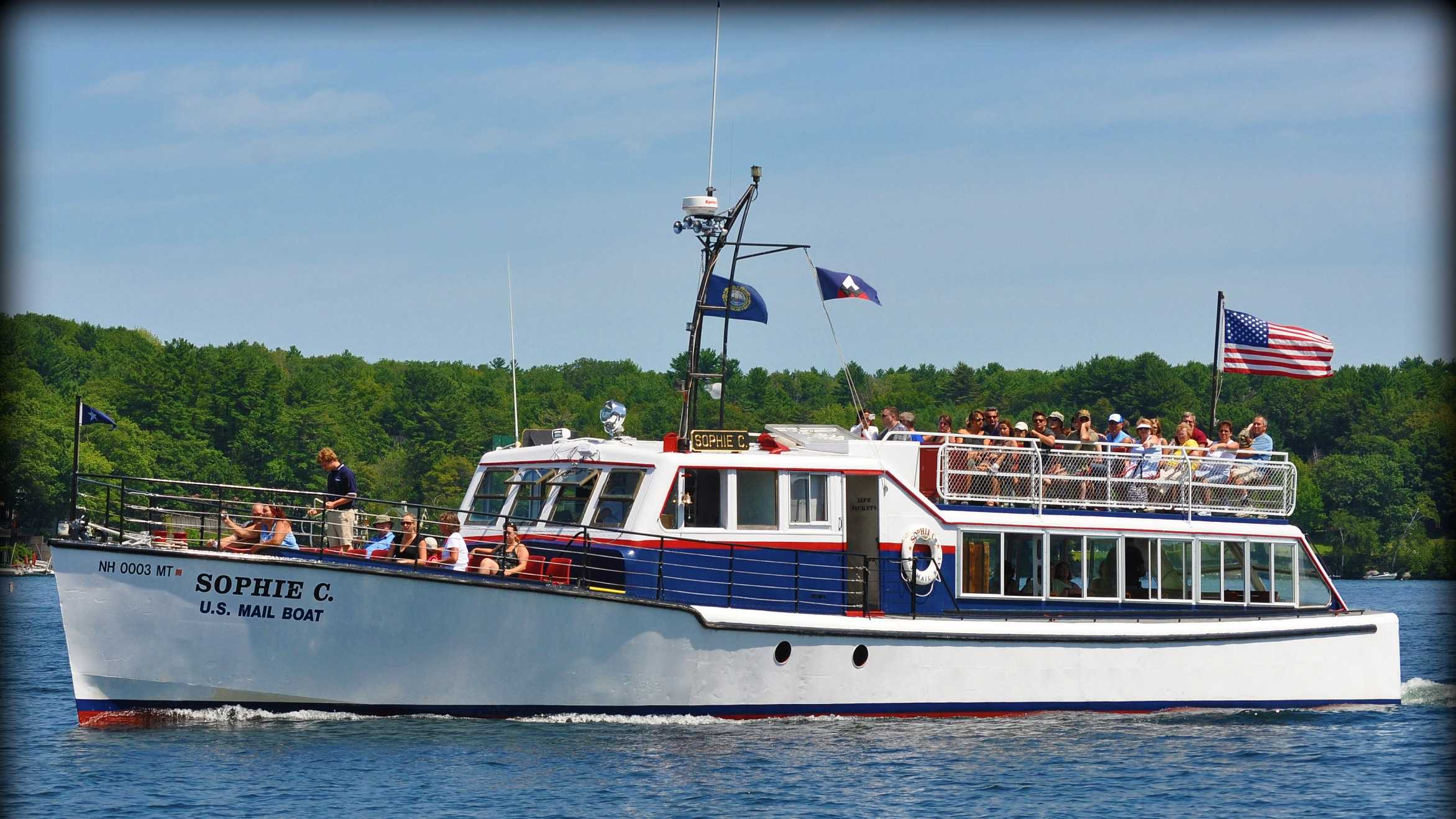 The M/V Sophie C. is the country's oldest floating post office.