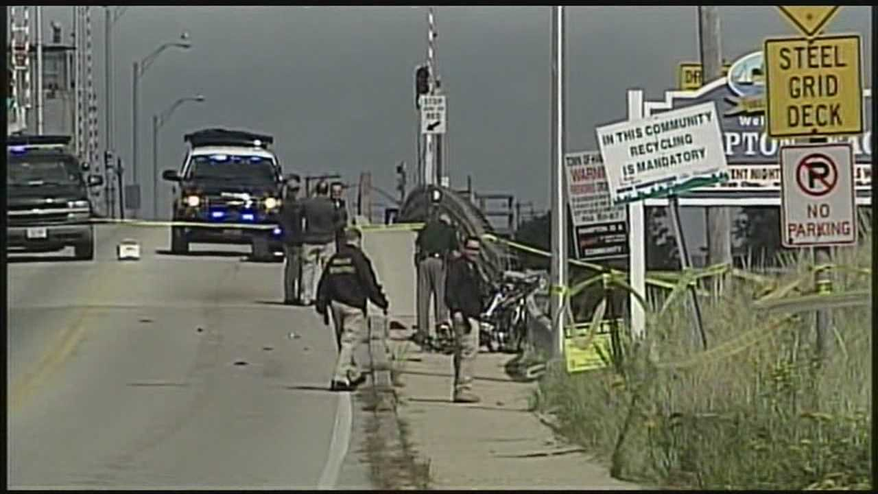 Bicyclist is dead after colliding with a car.