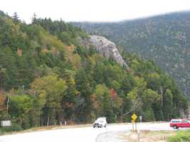 The Elephant Head in Crawford Notch is our second Fall Foliage Find of the season.