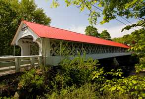 Ashuelot Bridge in Winchester, N.H.Constructed in 1864. Local historians consider this to be one of the state's most elaborate covered bridges.