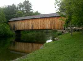Corbin Bridge in Newport, N.H.Constructed around 1845. Rather than closing the bridge in 1979, the town reduced the weight limit.