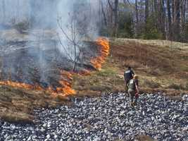 Which month is likeliest to have brushfires?