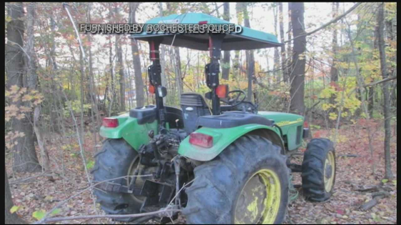 Police say juveniles took tractor for joy ride