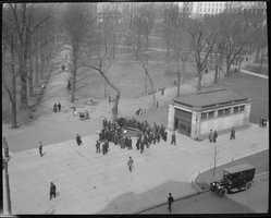 Bomb on display, Boston Common in 1918