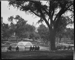 Frog Pond, Boston Common in 1918