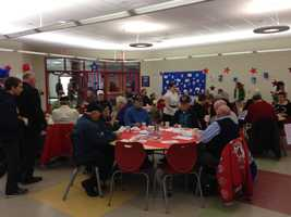 Events were held across New Hampshire Monday to commemorate Veterans Day.Here's an image from a Veterans Day breakfast in Derry.