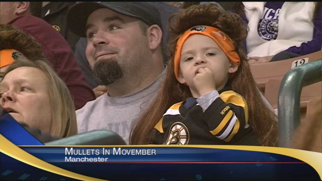 It was Mullets in Movember for Monarchs fans tonight! That even included WMUR's own Melinda Davenport and Jason King!